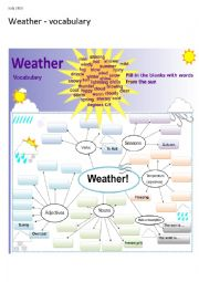 English Worksheet: Weather - vocabulary