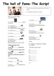 English Worksheet: The Hall of Fame