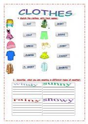 English Worksheet: Clothes