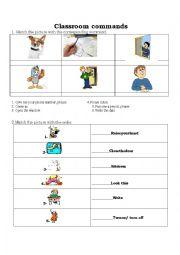 Classroom Commands Vocab Words