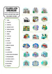 English Worksheet: Places & Buildings