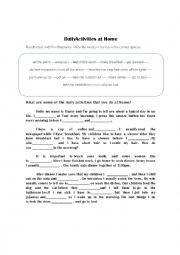 English Worksheet: Daily Routines