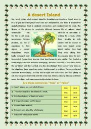 English Worksheet: A Desert Island