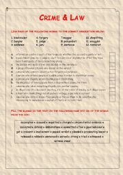 English Worksheet: Crime and Law