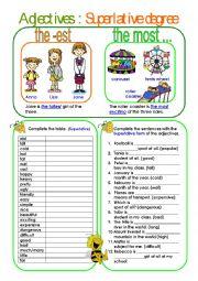 Adjectives: Superlative degree