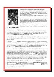 English Worksheet: Elvis Presley