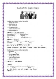 English Worksheet: Song Radioactive Imagine dragons