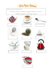 English Worksheet: Tea vocabulary