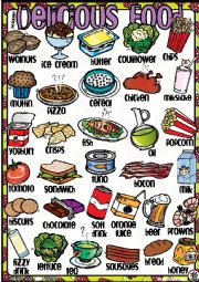 English worksheet: Delicious FOOD! Poster 2-2