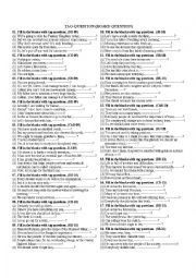 English Worksheet: tag question with answer