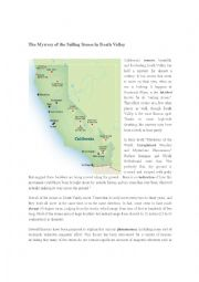 English Worksheet: The Mystery of sailing stones in Death Valley