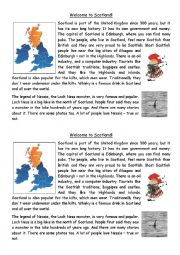 English Worksheet: Welcome to Scotland!