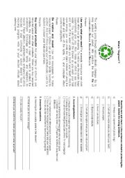 English Worksheet: 3rs Reduce, Recycle and Reuse