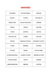 English Worksheet: charades