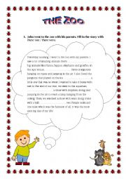 English Worksheet: The Zoo_Elementary (There was, There were).doc