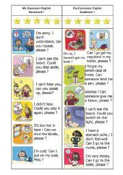 English Worksheet: Classroom English BOOKMARK-with answers