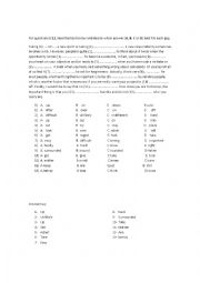 English Worksheet: First Certificate Use of English Exercises
