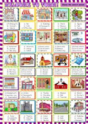 Welcome to town :multiple choice activity for young learners