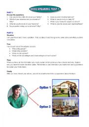 English Worksheet: ECCE Speaking tests set 1