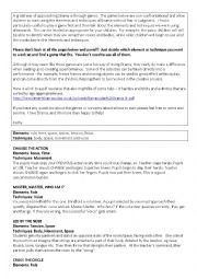 English Worksheet: Drama Games List