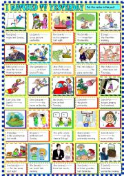 I watched TV yesterday:Past simple , regular verbs for young learners