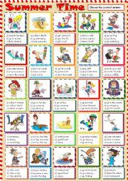 English Worksheet: Summer Time