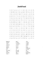 English Worksheet: Junk Food