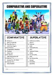 Comparative and Superlative - Dragon Ball - ESL worksheet ...