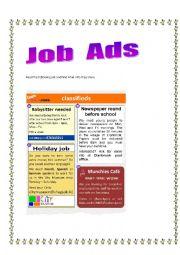 English Worksheet: Job ads 2