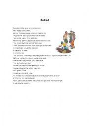 English worksheet: Bullied
