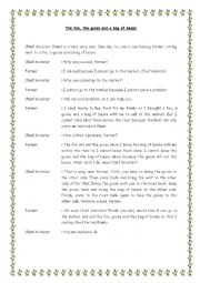 English Worksheet: The fox, goose and a bag of beans