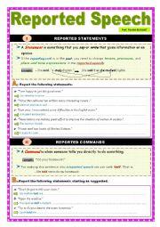 English Worksheet: Reported Speech (3)