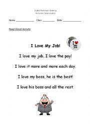 English Worksheet: job workplace listening speaking 2