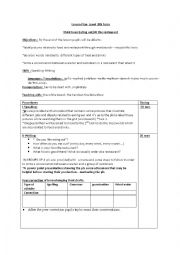 English Worksheet: lesson plan eating out at the restaurant
