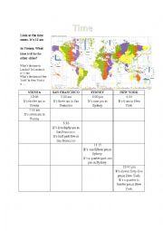 english worksheets time zones worksheets page 1. Black Bedroom Furniture Sets. Home Design Ideas