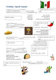 English Worksheet: Speedy Gonzalez