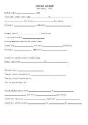 English Worksheet: Buffalo soldier