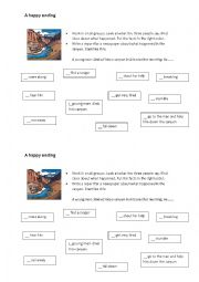 English Worksheet: guided writing: report