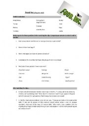 Food Inc   worksheet to comment on the film   ESL ...
