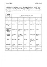 english linking words exercises pdf
