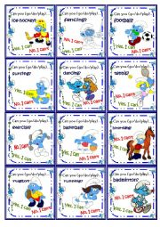 English Worksheet: Sports play/go/do Go fish Game