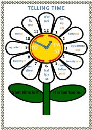 English Worksheet: Daisy Clock