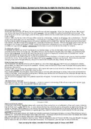 english worksheets solar eclipse europe 20th march 2015. Black Bedroom Furniture Sets. Home Design Ideas
