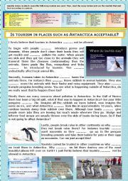 Gr - Opinion Essay + Modals  + KEY - Is tourism in places such as Antarctica acceptable?