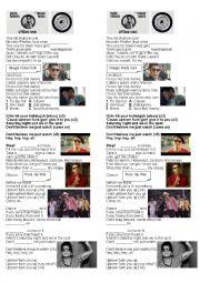 English Worksheet: Lyric Uptown Funk By Bruno Mars