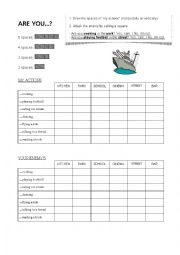 English Worksheet: Battleship - ARE YOU...