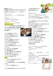 English Worksheet: Song: Style Taylor Swift