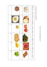 English Worksheet: Make your own American hamburger