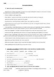 English Worksheet: The Amazing Spiderman Movie Worksheet