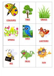 English Worksheet: Easter Go Fish Game 1/2
